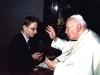 Audiencja w prywatnej kaplicy Jana Pawła II w Watykanie. W ramach stypendium naukowego Fundacji Jana Pawła II
